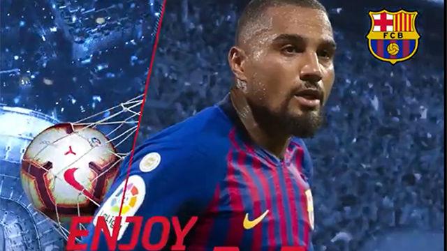Así anunció el Barça el fichaje de Boateng