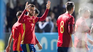 Borja firmó tres goles en la segunda parte
