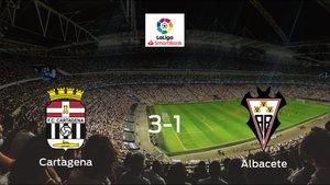 El Cartagena vence en casa al Albacete por 3-1