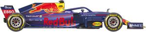 El coche de Red Bull para el Mundial de F1 de 2018