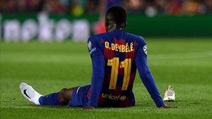 Dembélé se lesionó en Champions