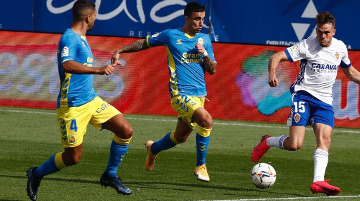 Empate entre Zaragoza y Las Palmas (2-2)