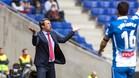 El entrenador del Málaga, muy molesto con el partido de su equipo en Cornellà
