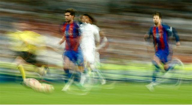 La espectacular carrera de Sergi Roberto en el gol de Messi