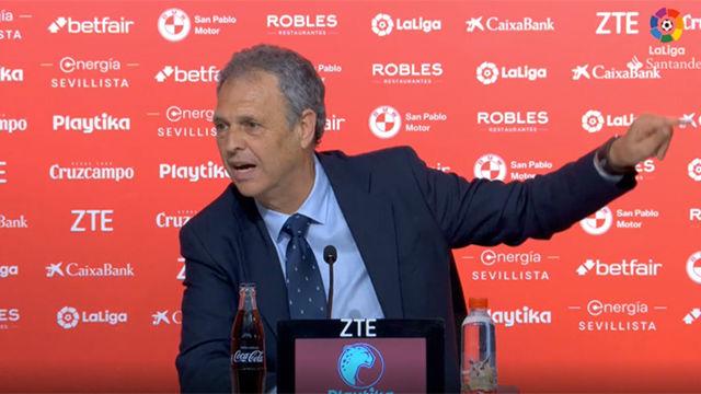 Esto es el Sevilla y aquí hay que mamar La emocionante rueda de prensa de Caparrós tras ganar el derbi andaluz