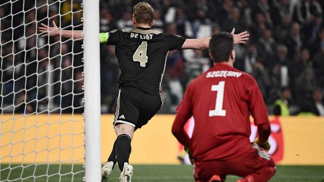 Un gol de De Ligt eliminó a la Juve de Cristiano