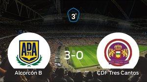 Goleada del Alcorcón B por 3-0 frente al Tres Cantos