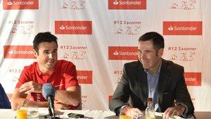 Gómez Noya, en el desayuno organizado por Banco Santander