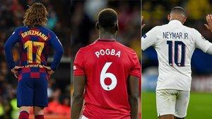 Griezmann, Pogba y Neymar, en el mercado