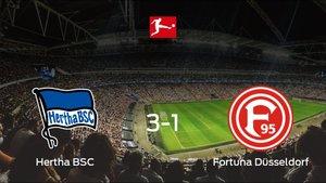 El Hertha BSC se lleva tres puntos tras ganar 3-1 al Fortuna Düsseldorf