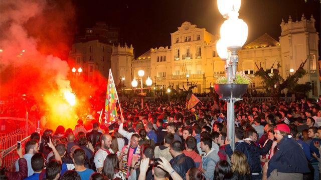 Huesca celebra el ascenso de su equipo a Primera División