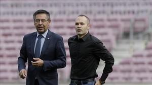 Iniesta tiene una gran relación con el Barça