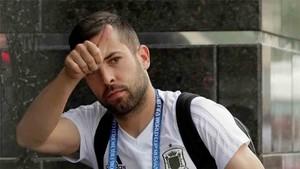 Jordi Alba se encuentra con la selección de España