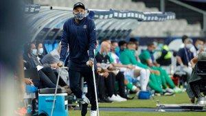 Kylian Mbappé intenta llegar al duelo de la Champions League contra el Atalanta