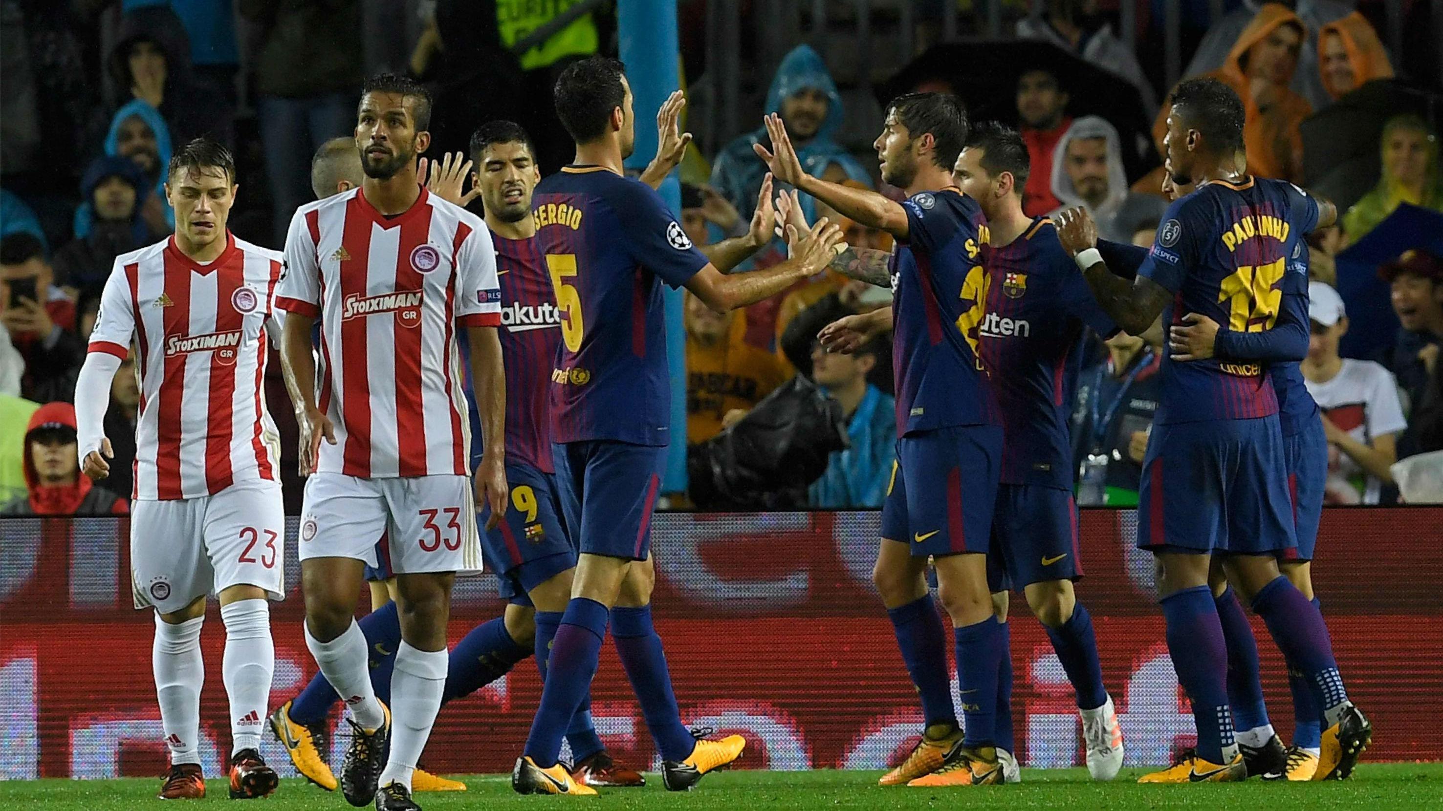 LACHAMPIONS | FC Barcelona - Olympiacos (3-1): El gol en propia puerta de Nikolau