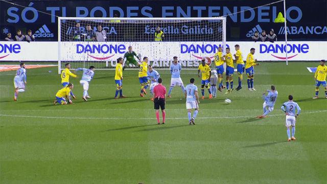 LALIGA | Celta - Las Palmas (2-1): La falta de Iago Aspas
