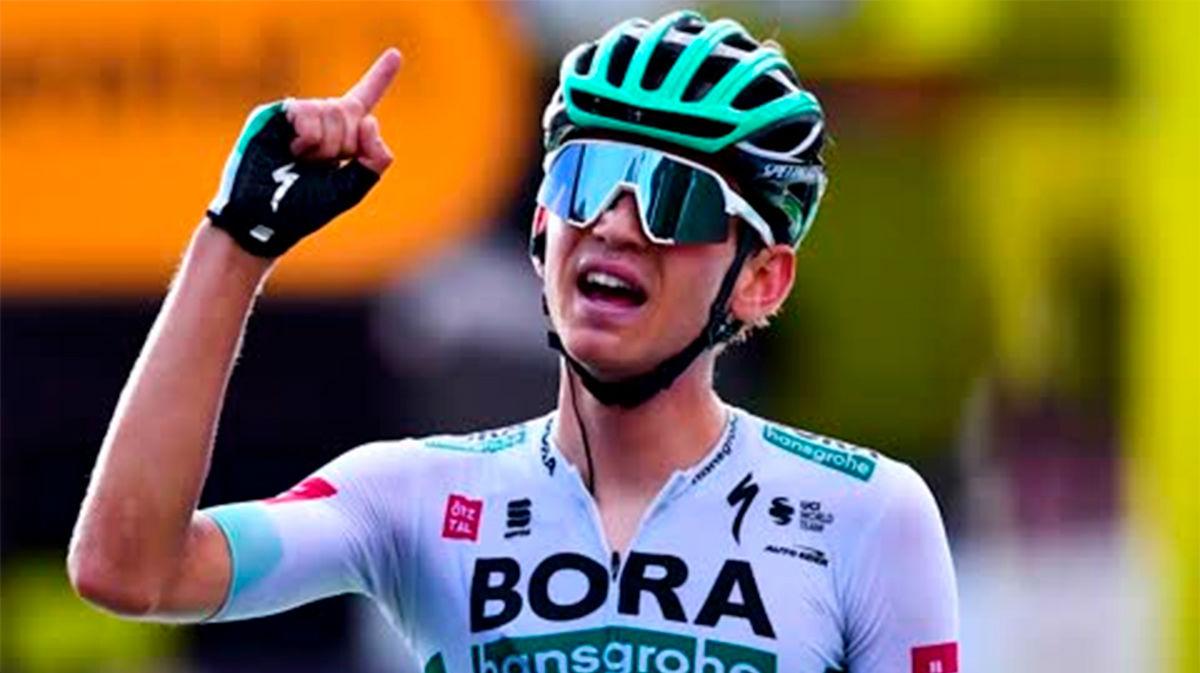 Lennard Kämna le da la primera victoria al Bora-Hansgrohe
