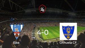 Los tres puntos se quedan en casa: goleada del Ejea al Orihuela CF (4-0)