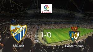 El Málaga se impone por 1-0 a la SD Ponferradina