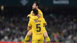 Messi asistió a Busquets en el 2-2 ante el Betis