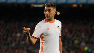 Munir El Haddadi jugó la pasada temporada en las filas del Valencia CF en calidad de cedido por el FC Barcelona