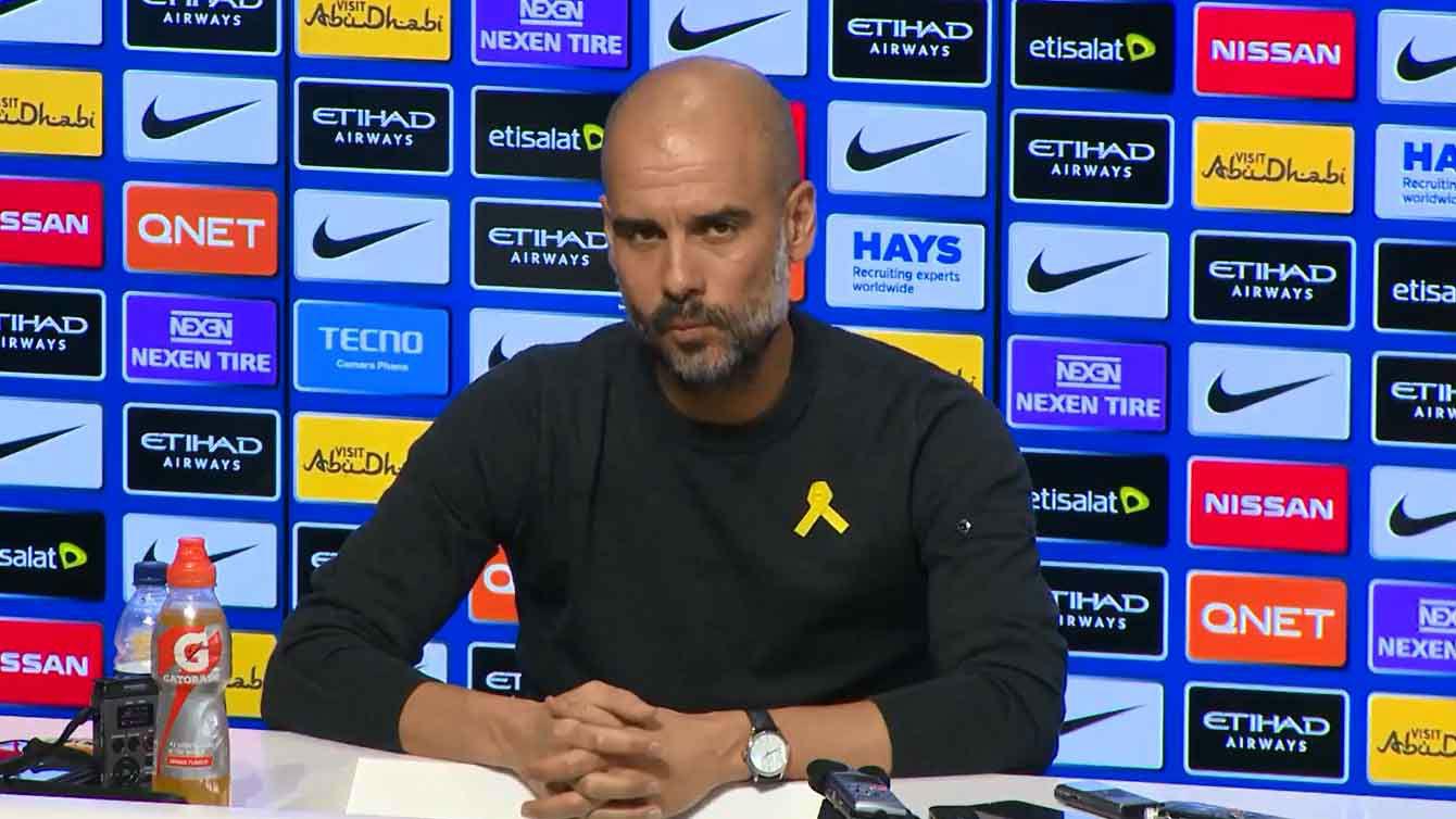 Pep Guardiola habla sobre lo sucedido tras el derbi de Manchester