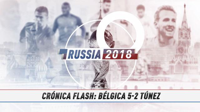 Rusia 2018 | Bélgica se da un festín ante Túnez