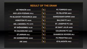 Sorteo de la eliminatoria previa de la Europa League