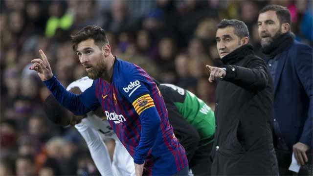 Valverde: Parece que lo de Messi no es muy grave
