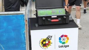 El VAR experimental utilizado en un partido del Atlhetic de Bilbao