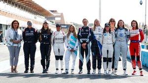 Las pilotos que participaron en el test de Arabia Saudí