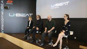 El acto de presentación de U-Beat, en Barcelona