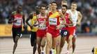 Adel Mechaal quedó fuera del podio en la prueba de los 3.000 metros