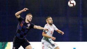 Alba regresó a la selección en Zagreb