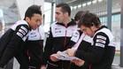 Alonso, con el equipo de Toyota en el WEC