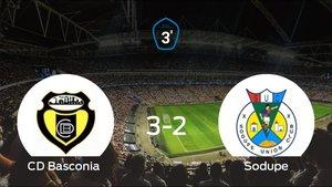 El Basconia se lleva la victoria en casa frente al Sodupe (3-2)