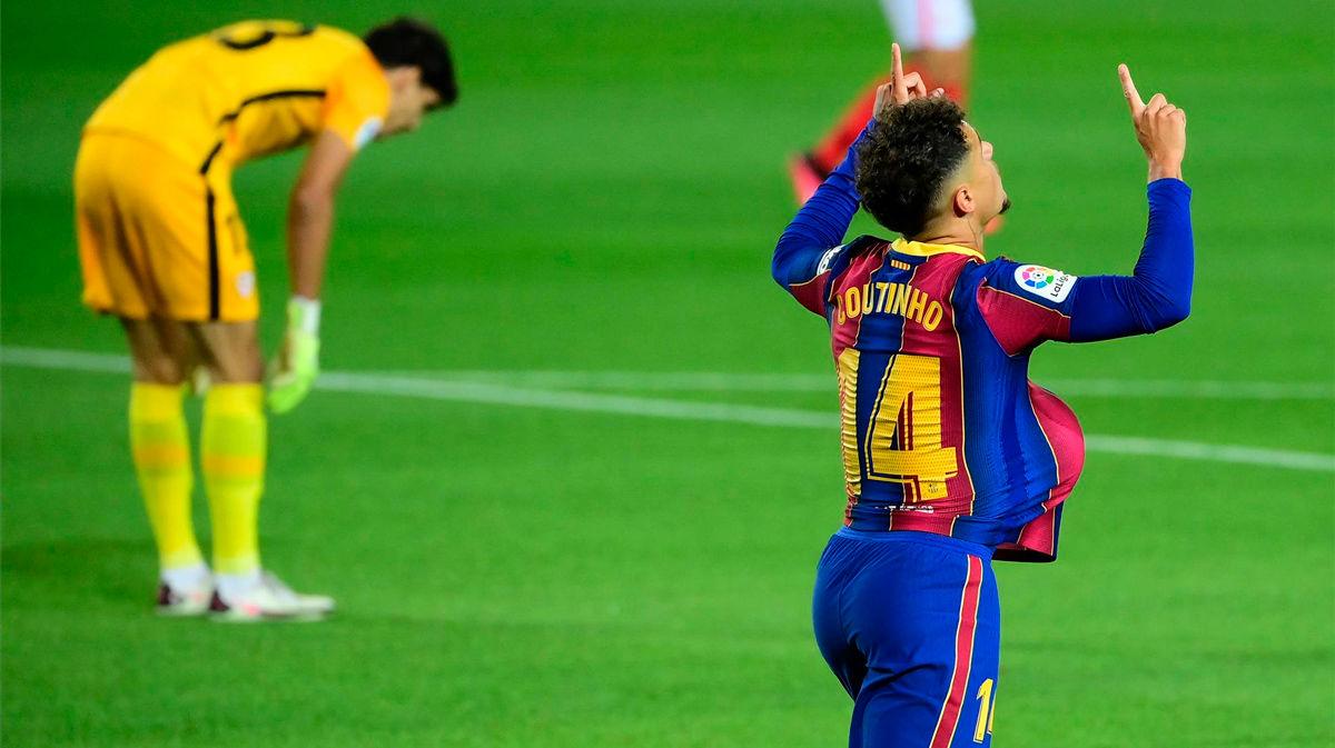 ¡Coutinho sigue ilusionando a los culés! El brasileño igualó el partido con este golazo