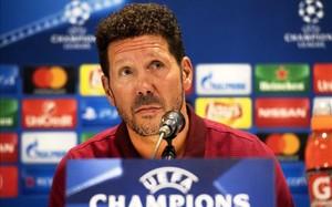 Diego Simeone, entrenador del Atlético de Madrid, en una rueda de prensa