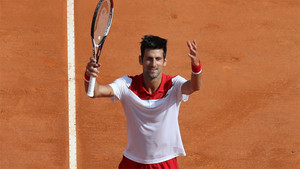 Djokovic celebrando su primer triunfo en Montecarlo