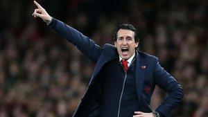 Emery, cuando dirigía al Arsenal