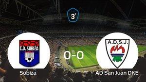 Empate, 0-0, entre el Subiza y el San Juan DKE
