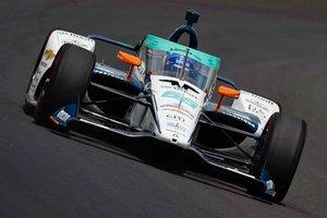 Fernando Alonso, en los primeros entrenos de Indianápolis
