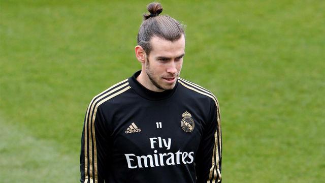 Gareht Bale, de buen rollo en el entreno