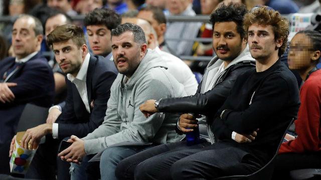 Griezmann disfruta de la Copa del Rey de baloncesto