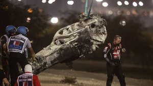 El Halo, intacto tras el accidente de Grosjean