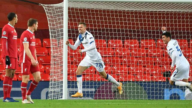 Ilicic abrió el marcador ante el Liverpool en Champions
