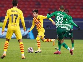 Imágenes del partido del FC barcelona ante el Ferencvaros, de Liga de Campeones que se disputa en el Puskás Aréna.