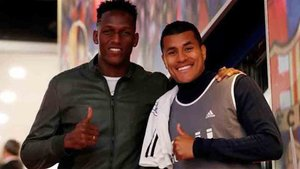 Jeison Murillo coincidió con Yerry Mina en el Camp Nou