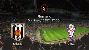 Jornada 17 de la Segunda División B: previa del duelo Mérida AD - Villarrobledo