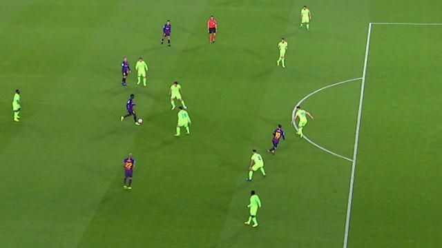 La jugada que demuestra que Dembélé ya se entiende con Messi